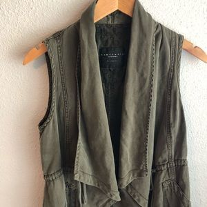 sanctuary vest in army green
